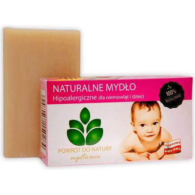 Roślinne naturalne mydło hipoalergiczne dla niemowląt i dzieci Produkty less waste