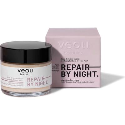 Krem do twarzy na noc z ochroną lipidową - Repair by night Veoli Botanica