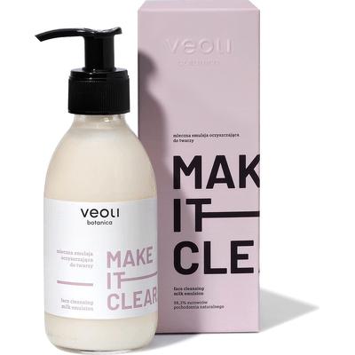 Mleczna emulsja oczyszczająca do twarzy - Make it clear Veoli Botanica