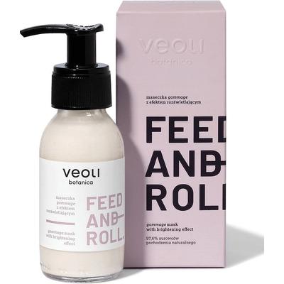 Maseczka gommage z efektem rozświetlającym - Feed and roll Veoli Botanica