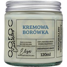 Ooroc Świeca sojowa mała w słoiku - Kremowa Borówka, 120 ml