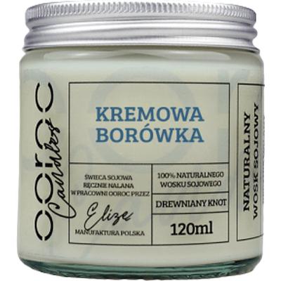 Świeca sojowa mała w słoiku - Kremowa Borówka Ooroc