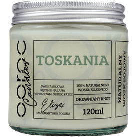Ooroc Świeca sojowa mała w słoiku - Toskania, 120 ml