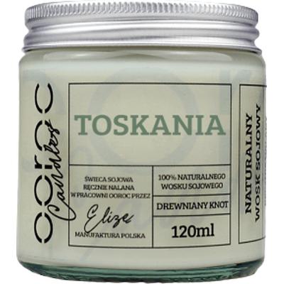 Świeca sojowa mała w słoiku - Toskania Ooroc