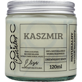 Ooroc Świeca sojowa mała w słoiku - Kaszmir, 120 ml