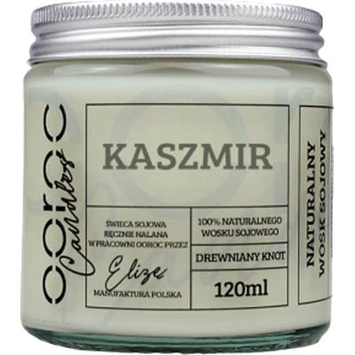 Świeca sojowa mała w słoiku - Kaszmir Ooroc