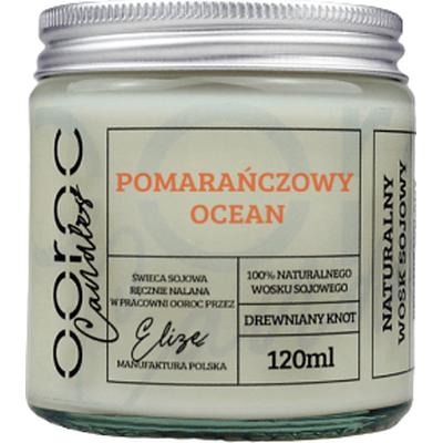 Świeca sojowa mała w słoiku - Pomarańczowy ocean Ooroc