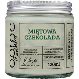 Ooroc Świeca sojowa mała w słoiku - Miętowa Czekolada, 120 ml