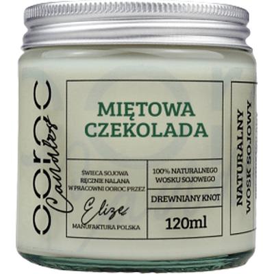 Świeca sojowa mała w słoiku - Miętowa Czekolada Ooroc