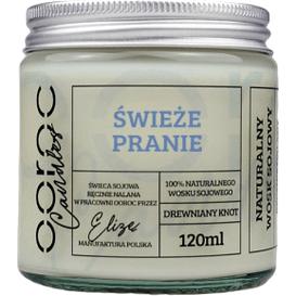 Ooroc Świeca sojowa mała w słoiku - Świeże Pranie, 120 ml
