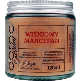 Ooroc Świeca sojowa mała w słoiku - Wiśniowy Marcepan, 120 ml