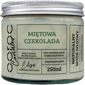 Ooroc Świeca sojowa w słoiku - Miętowa Czekolada, 250 ml