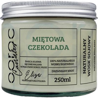 Świeca sojowa w słoiku - Miętowa Czekolada Ooroc