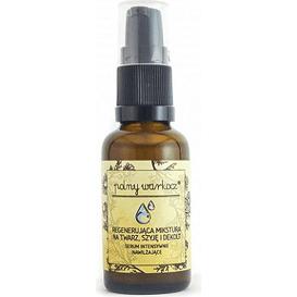 Polny Warkocz Regenerująca mikstura na twarz, szyję i dekolt - Serum intensywnie nawilżające, 30 ml