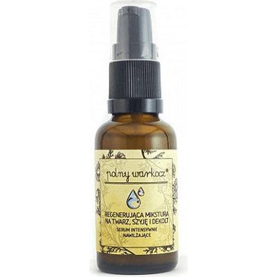 Regenerująca mikstura na twarz, szyję i dekolt - Serum intensywnie nawilżające Polny Warkocz