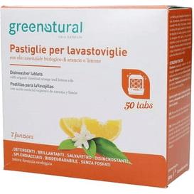 Greenatural [OUTLET] Tabletki do zmywarki - Pomarańcza & cytryna - duże opakowanie, 50 szt.