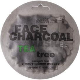 Cafe Mimi Maseczka do twarzy - Bambusowy węgiel & Drzewo herbaciane