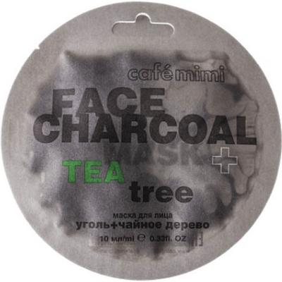 Maseczka do twarzy - Bambusowy węgiel & Drzewo herbaciane Cafe Mimi