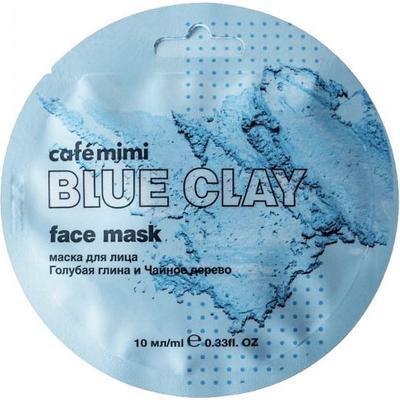 Maseczka do twarzy - Niebieska glinka & drzewo herbaciane Cafe Mimi