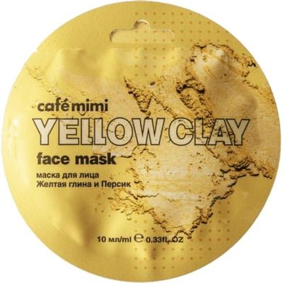 Maseczka do twarzy - Żółta glinka & brzoskwinia Cafe Mimi