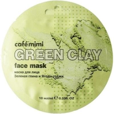 Maseczka do twarzy - Zielona glinka & jagody goji Cafe Mimi