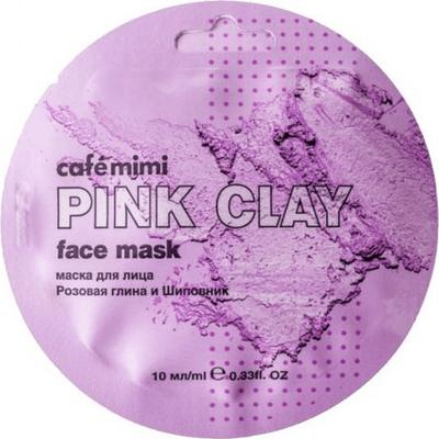 Maseczka do twarzy - Różowa glinka & dzika róża Cafe Mimi