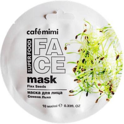 Maseczka do twarzy - Len & Mleko migdałowe Cafe Mimi