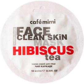 Cafe Mimi Maseczka-scrub do twarzy - Herbata z hibiskusa & jaśmin