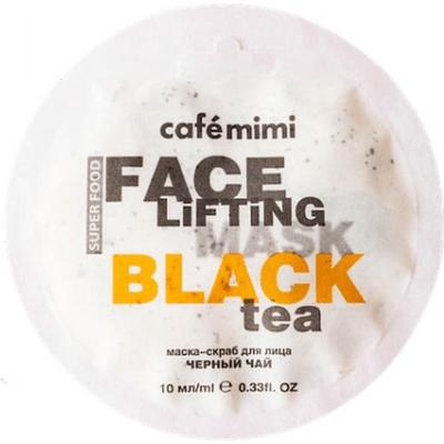 Maseczka-scrub do twarzy - Czarna herbata & trawa cytrynowa Cafe Mimi