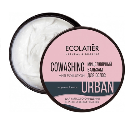Micelarna oczyszczająca odżywka do włosów - Moringa i kokos Ecolatier