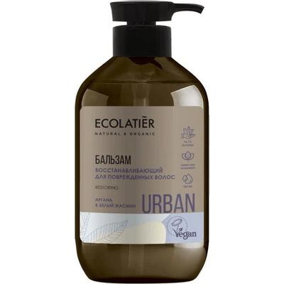 Odbudowujący balsam do włosów zniszczonych - Argan i biały jaśmin Ecolatier