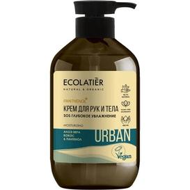 Ecolatier Nawilżający krem do ciała i rąk - Aloes i kokos, 400 ml