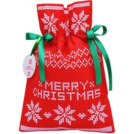 Akcesoria Spa Worek prezentowy świąteczny - Poinsettia czerwona - rozmiar S