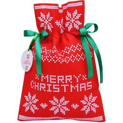 Worek prezentowy świąteczny - Poinsettia czerwona Akcesoria Spa