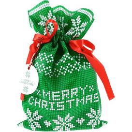 Akcesoria Spa Worek prezentowy świąteczny - Poinsettia zielona - rozmiar S