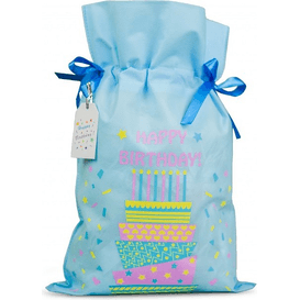 Akcesoria Spa Worek prezentowy - Happy Birthday - rozmiar L