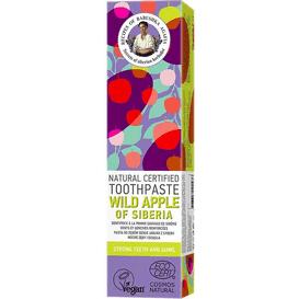 Receptury Agafii Naturalna pasta do zębów z dzikim jabłkiem z Syberii, 85g
