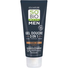 So Bio Żel pod prysznic i szampon 3w1 - Cedr Atlaski, 200 ml