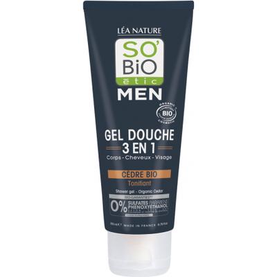 Żel pod prysznic i szampon 3w1 - Cedr Atlaski So Bio