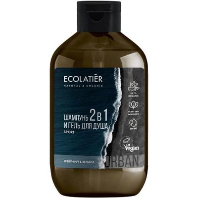 Szampon i żel pod prysznic 2w1 dla mężczyzn - Grejpfrut i werbena Ecolatier
