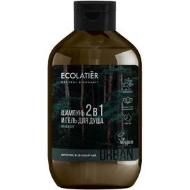 Ecolatier Szampon i żel pod prysznic 2w1 dla mężczyzn - Cyprys i zielona herbata, 600 ml