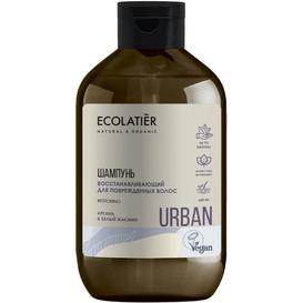 Ecolatier Odbudowujący szampon do włosów zniszczonych - Argan i biały jaśmin, 600 ml