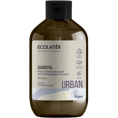 Odbudowujący szampon do włosów zniszczonych - Argan i biały jaśmin Ecolatier