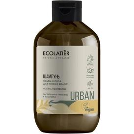 Ecolatier Szampon do włosów cienkich - Proteiny i aloes, 600 ml