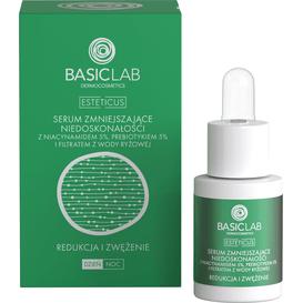BasicLab Serum zmniejszające niedoskonałości z Niacynamidem 5% - Redukcja i zwężenie, 15 ml