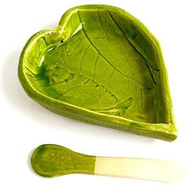 Miska do maseczek - Liść serce