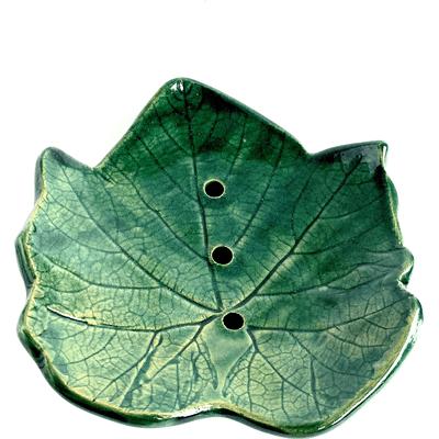 Ceramiczna mydelniczka - Liść klonu By Triny