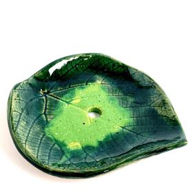 Ceramiczna mydelniczka - Liść lipy