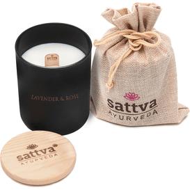 Sattva Ayurveda Świeca sojowa w szkle - Lavender & Indian Rose