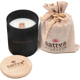 Sattva Ayurveda Świeca sojowa w szkle - Vanilla & Guava
